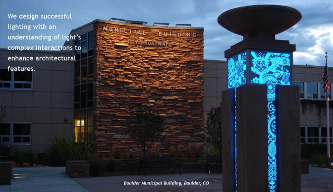 Boulder City Hall lighting design by Clanton and Associates.