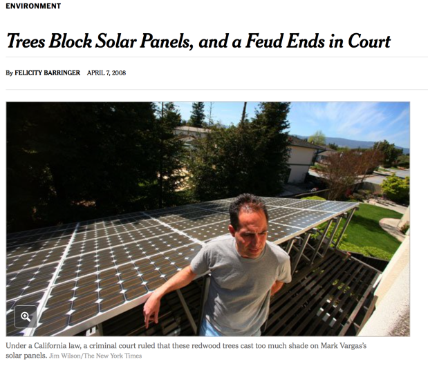 Unintended Outcome? Required Solar Panels on New Houses Limits Future Urban Forest